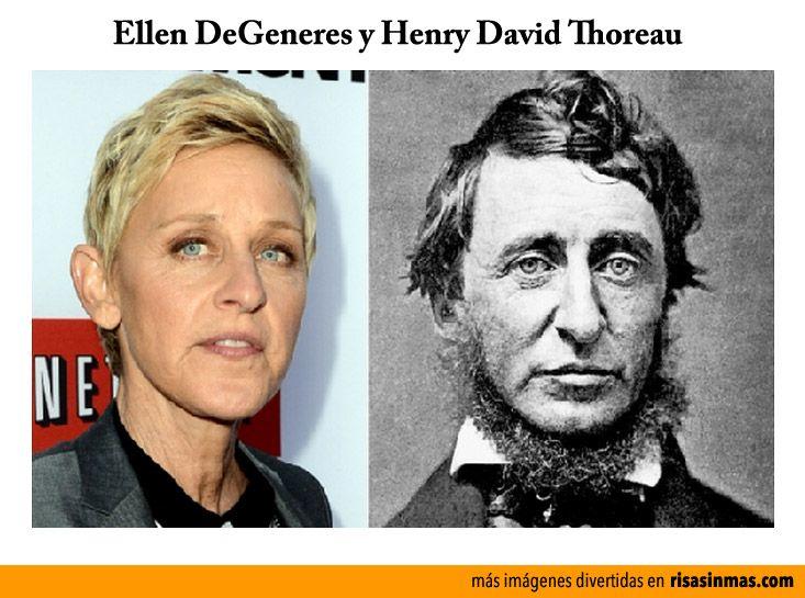 Parecidos razonables: Ellen DeGeneres y Henry David Thoreau.
