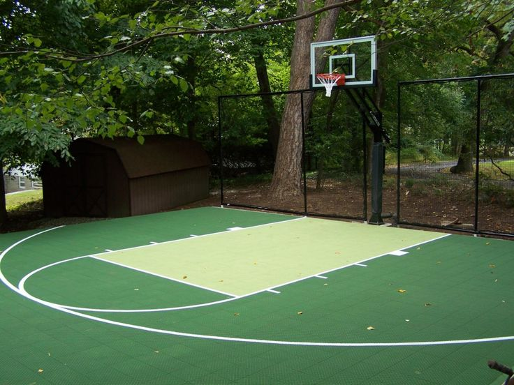 120 best backyard basketball court images on pinterest for Homemade indoor basketball court