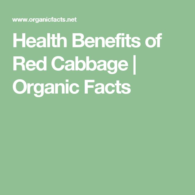 Health Benefits of Red Cabbage | Organic Facts