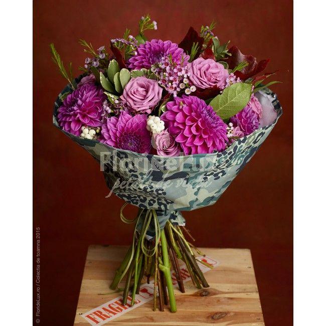 Buchet de crizanteme roz delicate, flori speciale pentru un cadou minunat! Comanda acum cele mai frumoase flori pentru iubita sau mama ta!