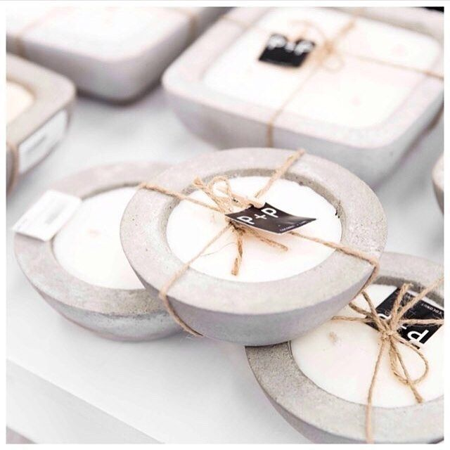 RG from the ever so wonderful @lightbox_giftandhome . We have been told our candle scents are somewhat Godly! #candles #concrete #soycandles #delicious #homedecor #homedesign #decor #home #interiordesign #design #love #style #modern #living #simplictic #simplicty #handmade #poppyandpatch #poppyandpatchloves