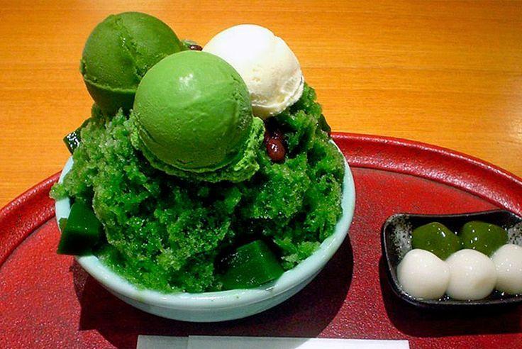 Receta de Matcha aisu, granizado de te verde http://www.recetasjaponesas.com/2009/05/matcha-granizado-de-te-verde.html #receta #japon #matcha #granizado #teverde #helado