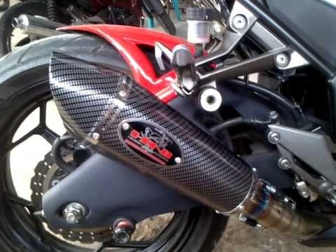 Knalpot Racing Kawasaki Ninja 250 fi merk KNI (Kawasaki Ninja Indonesia)