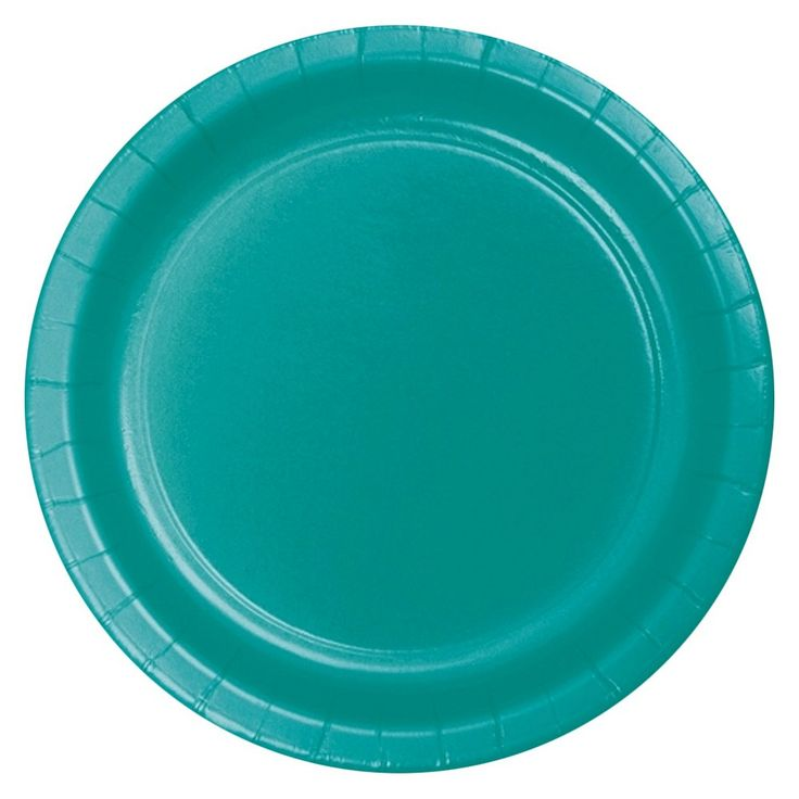 Creative Converting Paper Dinner Plate - Tropical Teal (18 Count), Pink