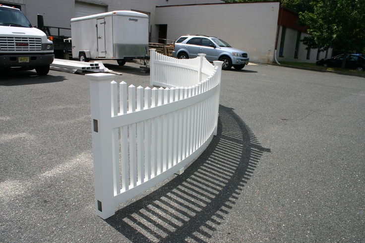 Pvc Curved Fence Gardening Amp Landscaping Pinterest Fence
