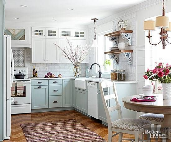 Domino shares before and after images of tiny kitchens to inspire you to redecorate or renovate your own using small space solutions.