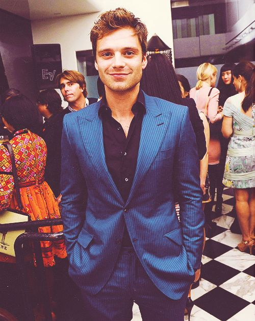 Sebastian Stan. LOOK AT THT GUY BEHIND HIS SHOULDER OMG I JUST NOTICED THIS!!!!!!!!