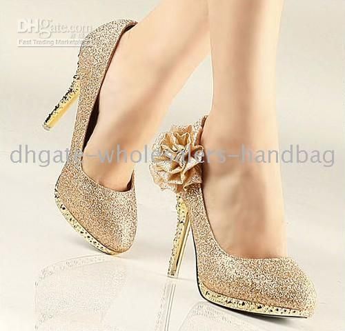 gold shoes for wedding | ... wedding or an Old Hollywood styled beach fete, there are shoes that