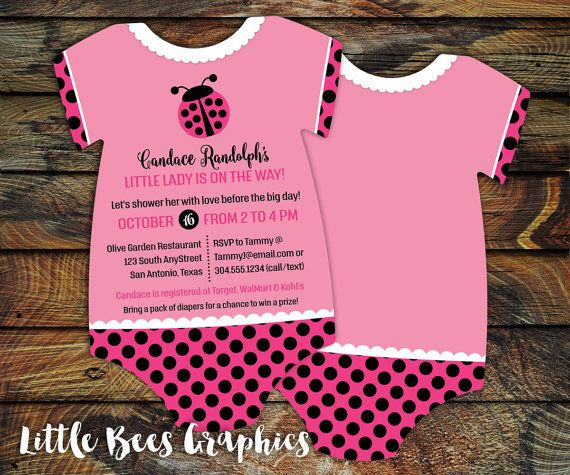 227 best baby shower invitations images on pinterest 10 ladybug baby shower invitations little by littlebeesgraphics filmwisefo