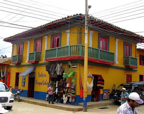 Casa de colores. Manta, Cundinamarca Colombia