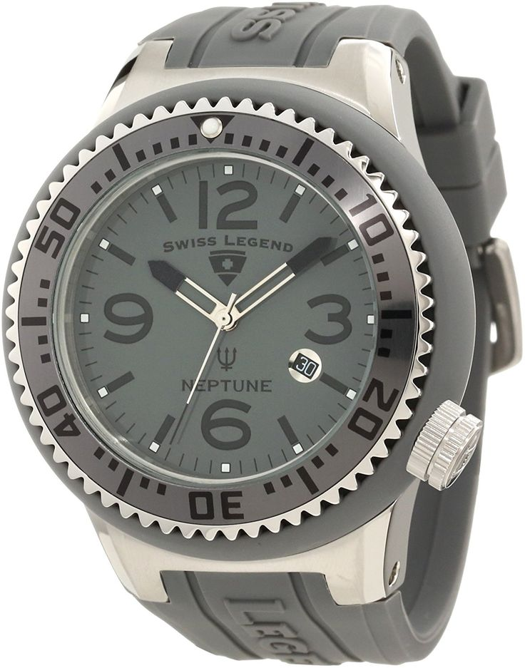 17 best images about swiss legend watch legends swiss legend men s neptune grey silicone watch >>> you can get more details by