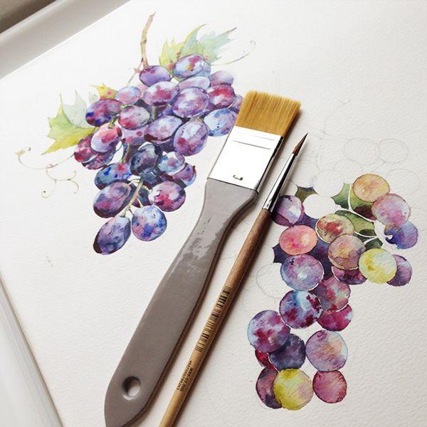 Watercolor sketchbook from my Instagram :) on Behance