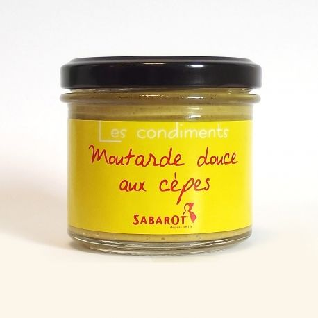 Moutarde douce artisanale aux cèpes (90g)