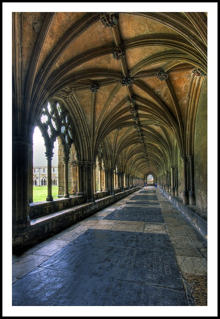 Norwich Cathedral, the oldest and best preserved open air cloisters in England .