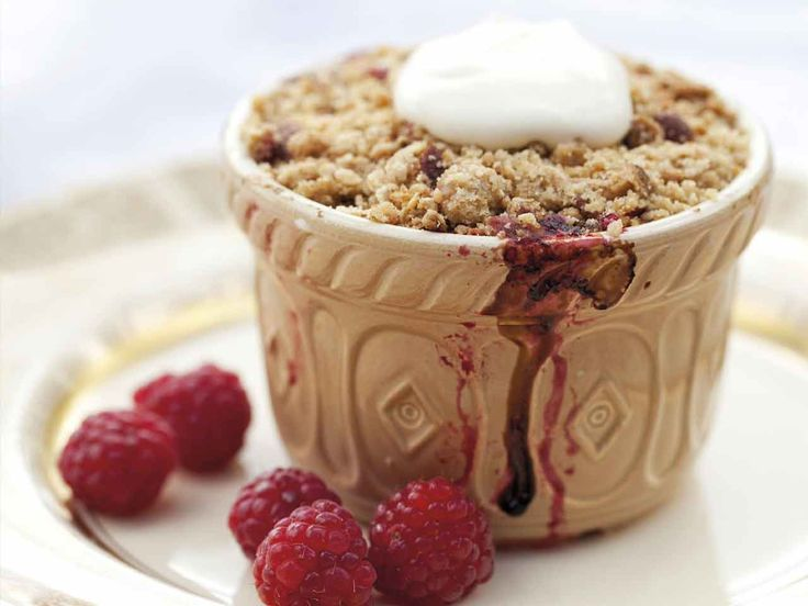 Annabel Langbein, the Free Range Cook, shares her recipe for these delightful individual rhubarb and berry crumbles.