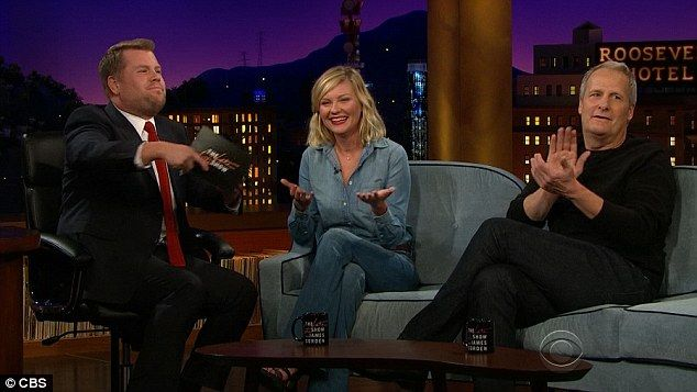 Kirsten Dunst jets off after performing hilarious Bring It On cheer #dailymail