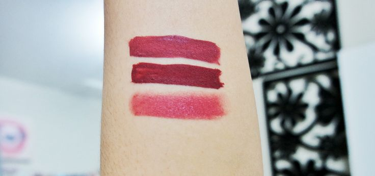 Swatches- from top to bottom: KVD Lolita, Colourpop Lulle & MAC Twig