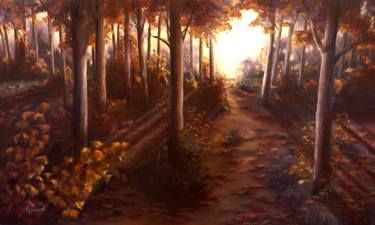 "Saatchi Art Artist ΑγγελικΗ  Aggeliki; Painting, ""Autumn"" #art Size: 60 H x 100 W x 2 cm - NOT AVAILABLE"