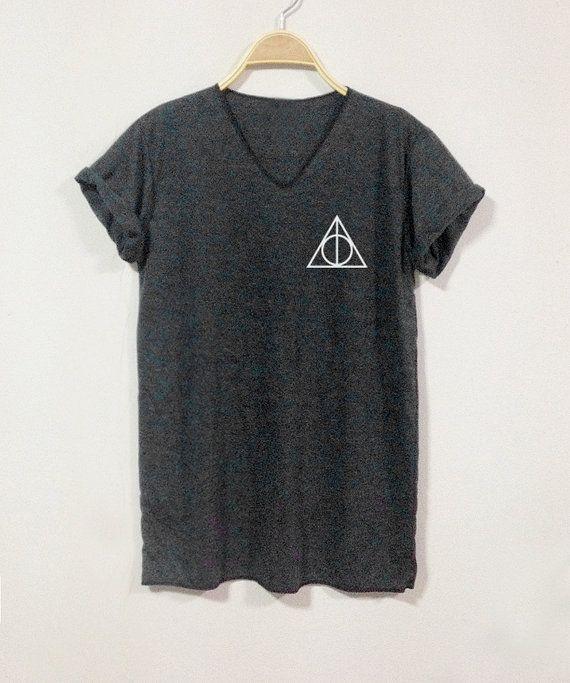 DEATHLY HALLOWS Shirt Harry Potter Shirts V-Neack by finteetank