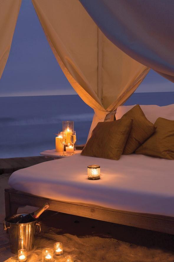 Romantic evening-- honey moon