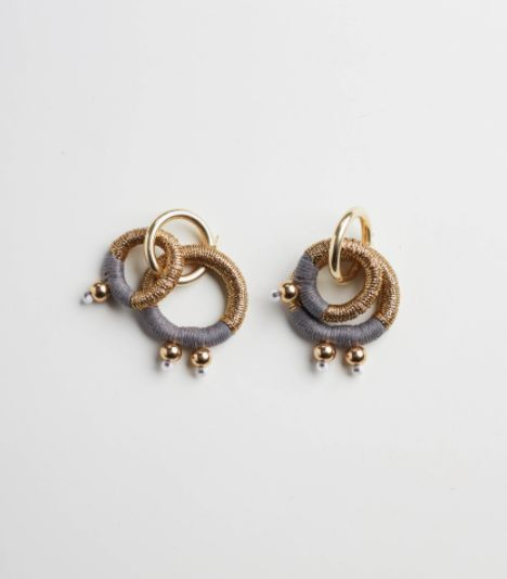 Gravity earrings: From the life-giving Sun to its emotionally-charged Moon mate, the circle is a universal, sacred and divine symbol. The gold-plated earrings embody wholeness,connectedness and communion: a reminder to gravitate toward that which uplifts, revitalizes and inspires us.  PICHULIK SS17 Gravity earrings  Buy Online: www.pichulik.com/shop