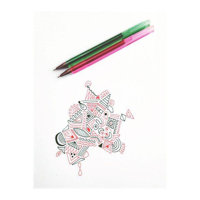Pink & Green ● Virki illustration (Vira Kiktso) instagram: @artbyvirki #virki #virkiillustration #illustration #pattern #mönster