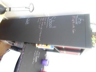 Chalkboard painted desk  | ButISawItOnPinterest.Blogspot.ca