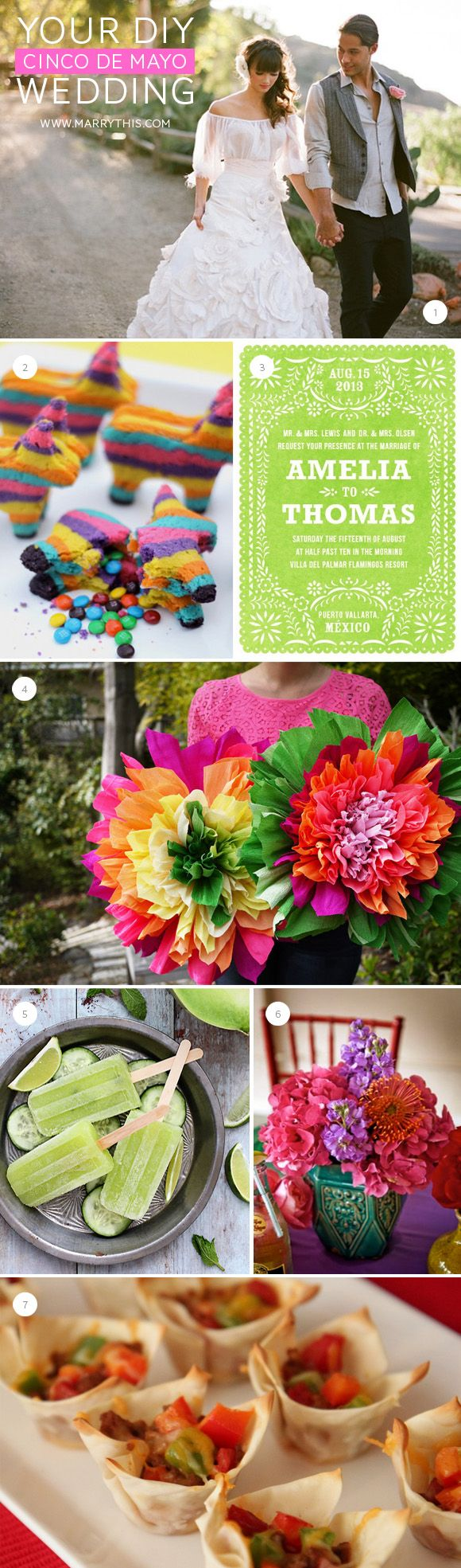 DIY Cinco de Mayo Wedding Roundup | Alfred and Fatima's ...