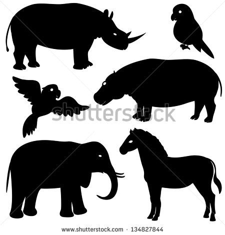 90 best Animal silhouettes images