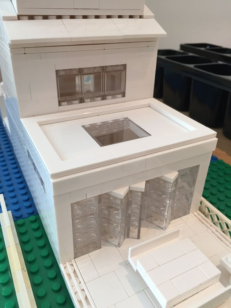 external view extension with rooflight patio made with lego architecture studio 21050
