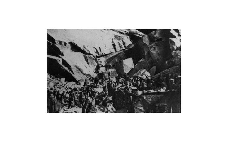 Der Steinbruch von Flossenbürg:  Vielfach wurden KZ-Häftlinge zur Arbeit in...