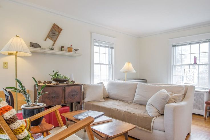 in South Portland, United States. Sunny, simple home that comfortably sleeps 6. Enjoy a short walk to restaurants, bakery, beach, yoga studio, and playground. Easy 10-minute drive into Portland. Room for the whole family! The price of your stay includes 9% Maine Lodging Tax.  The ...