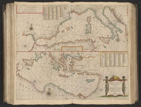 Page 16 Zee-atlas; Colom, Arnold  1656?  Albert and Shirley Small Special Collections Library, University of Virginia. http://search.lib.virginia.edu/catalog/uva-lib:2287415/view#openLayer/uva-lib:2380017/6516/8566/2/1/0