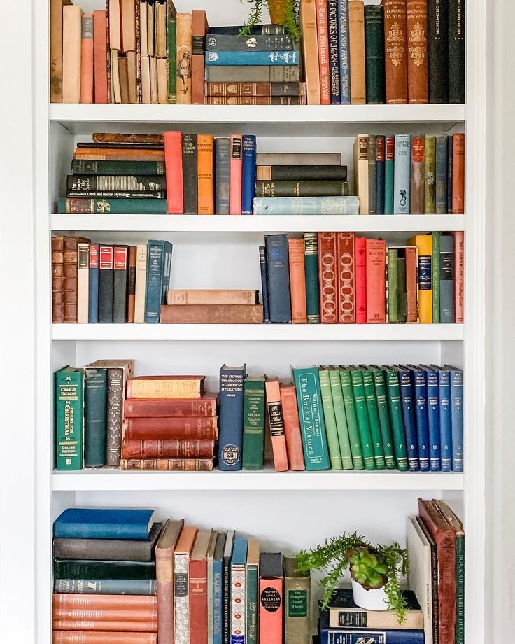 I Was Just Thinking How Perfect This Colorful Bookcase Was As Spring Approaches And Then T Small Bathroom Colors Cool Diy Projects Decorating Tips