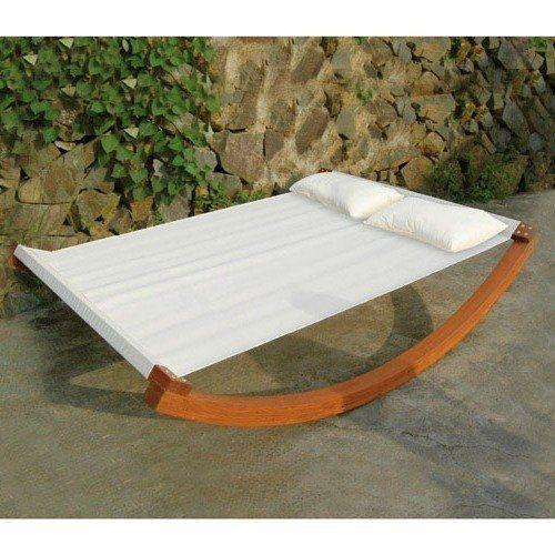 PAPILLON AMACA LETTINO A DONDOLO MATRIMONIALE 220x150x45 in polyestere con cuscini beige: Amazon.it: Giardino e giardinaggio