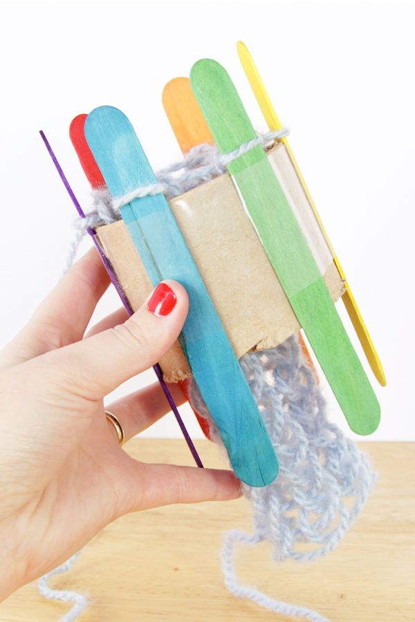 How-to: DIY a Knitting Loom - a great activity to keep the kids busy while they're off this holiday season.