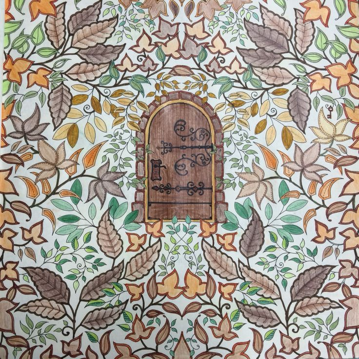 Jardim Secreto Porta Johanna Basford Secret GardenJohanna Coloring BookSecret