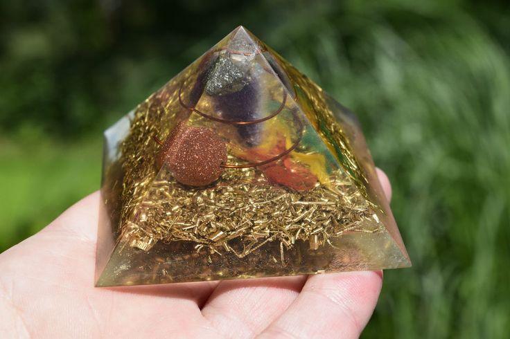 Orgonit® Pyramide Orgon Generator Energie Prana Chi Rasta Goldfluss  PY126
