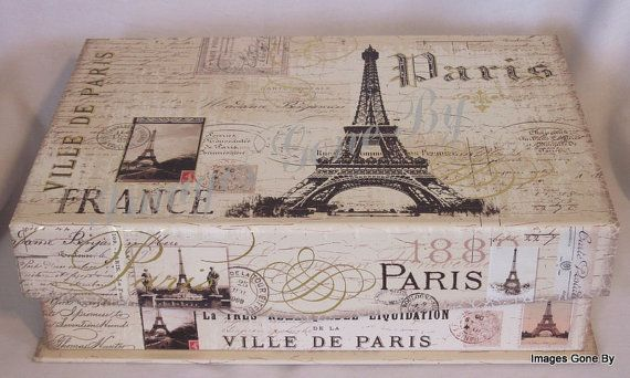 Victorian Image 'Paris Noir' Small Keepsake Gift por ImagesGoneBy