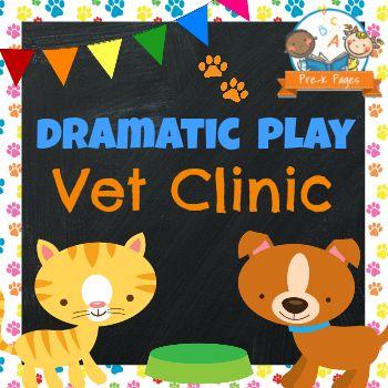 Dramatic Play Vet Clinic Printable Kit