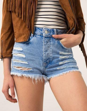 Calções Bershka cintura super subida - Bershka - Bershka Portugal #accessories #covetme