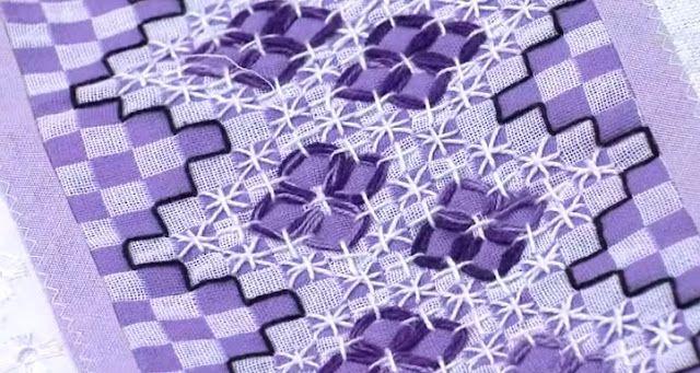 Bordado Passo a Passo: Aprenda bordado em tecido xadrez                                                                                                                                                                                 Mais