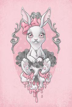 Pastel bunny creepy