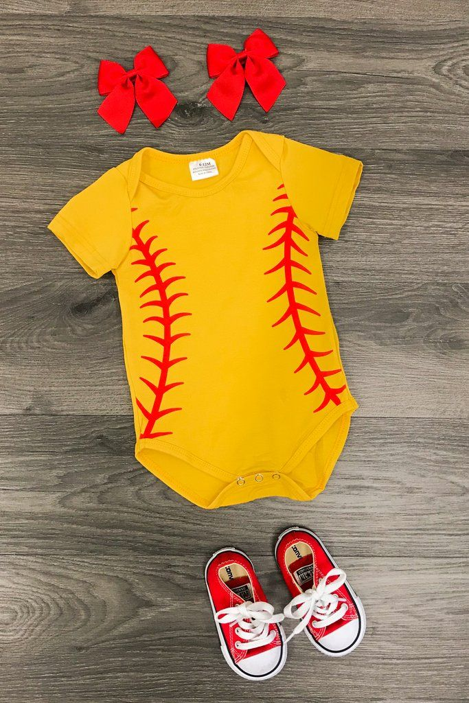 a4eff6b60f184 Pin by Jordon Lee on Remi | Baseball onesie, Baby girl items, Baby