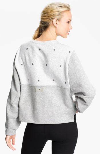adidas by Stella McCartney 'Essentials' Studded Sweatshirt | Nordstrom