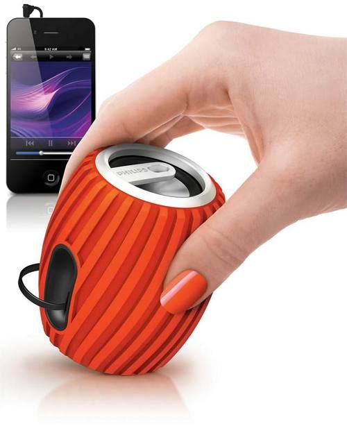 Philips rechargeable portable speaker.  Really like the shape and the design!