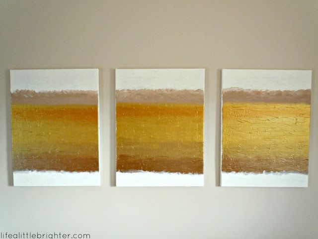 Another DIY Painting with molding paste for texture.  (From Life a Little Brighter)