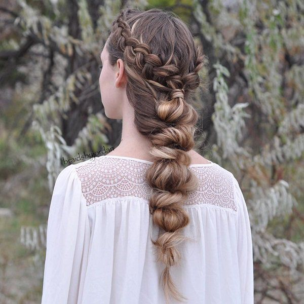 Turn that dutch braid half updo into a faux braid or knots and twists that resembles a braid.