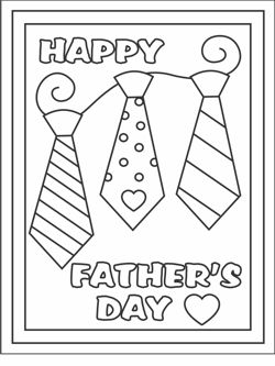 printable fathers day cards - PDF card with decorated envelope...
