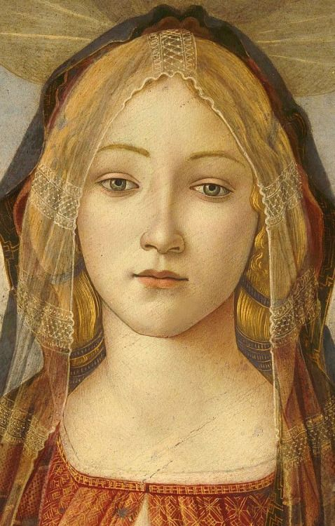 anneartgallery:  Sandro Botticelli: The Virgin and Child with Saint John and an Angel (1490, detail)